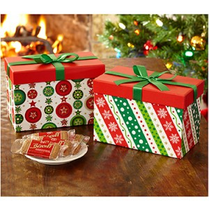 Holiday Ornaments Box with Biscoff