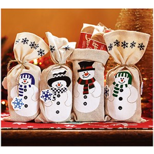 Snowman Canvas Bags with Extra Large Biscoff