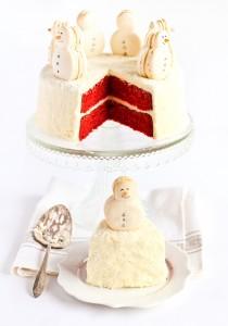 Snowman Red Velvet Cake