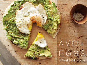Avocado Egg Breakfast Pizza