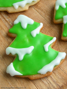 Snowy Tree Sugar Cookies