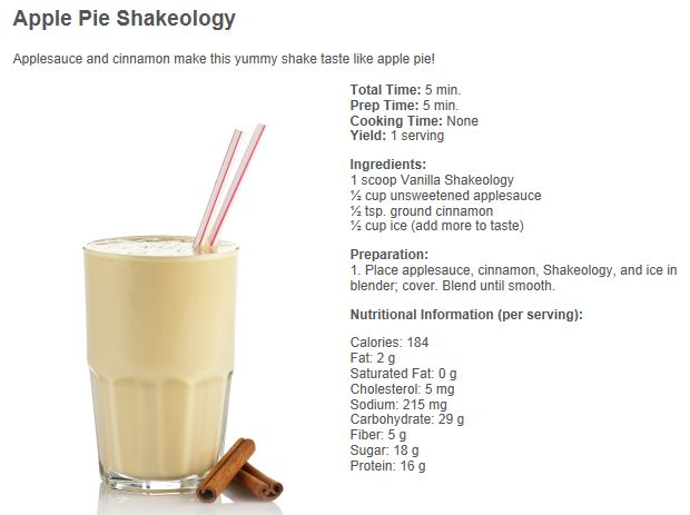 apple pie shakeology