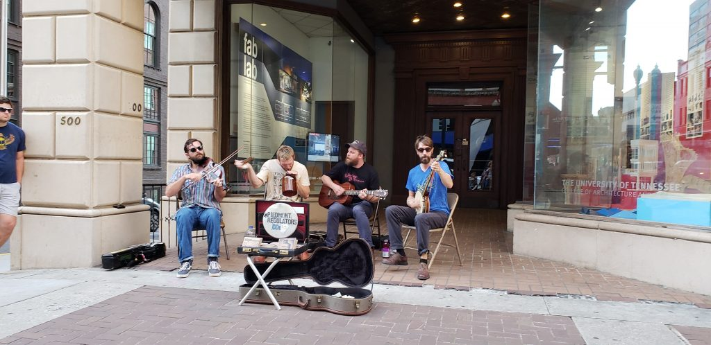 knoxville street performers