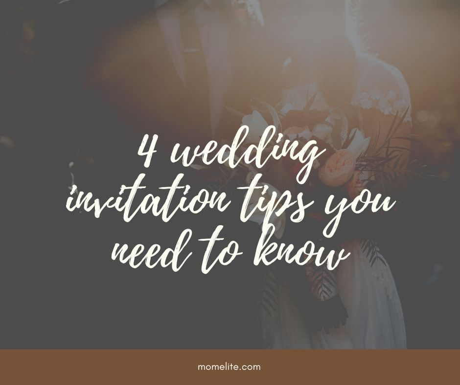 wedding invitation tips you need to know